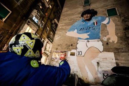 Diego Maradona - mural w Neapolu