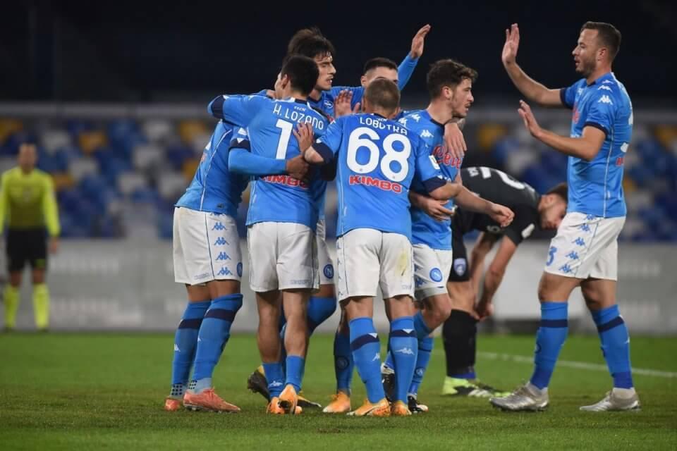 Piłkarze Napoli w meczu z Empoli