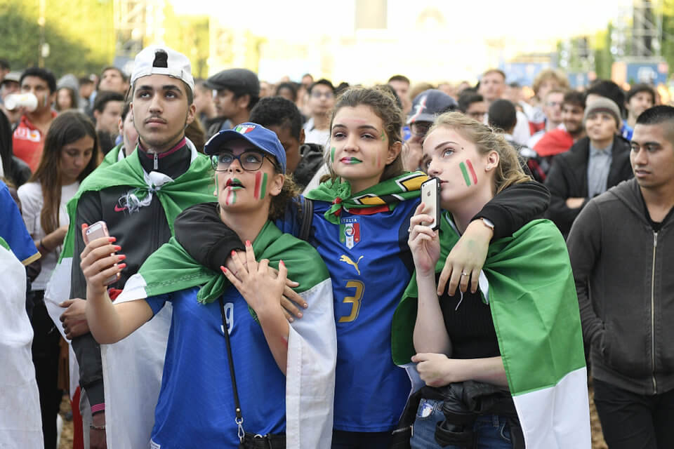 Kibice reprezentacji Włoch