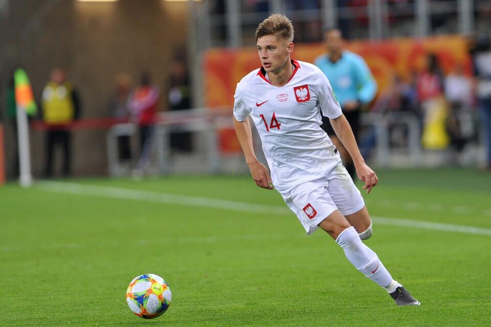 Nicola Zalewski w barwach juniorskiej reprezentacji Polski